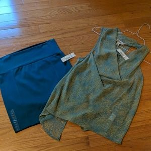 Decree Other - High waisted mini skirt and matching sheer top
